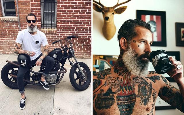 """Người mẫu Mỹ Seth Andrew Silver (U50+) theo đuổi phong cách """"già gân siêu ngầu""""."""