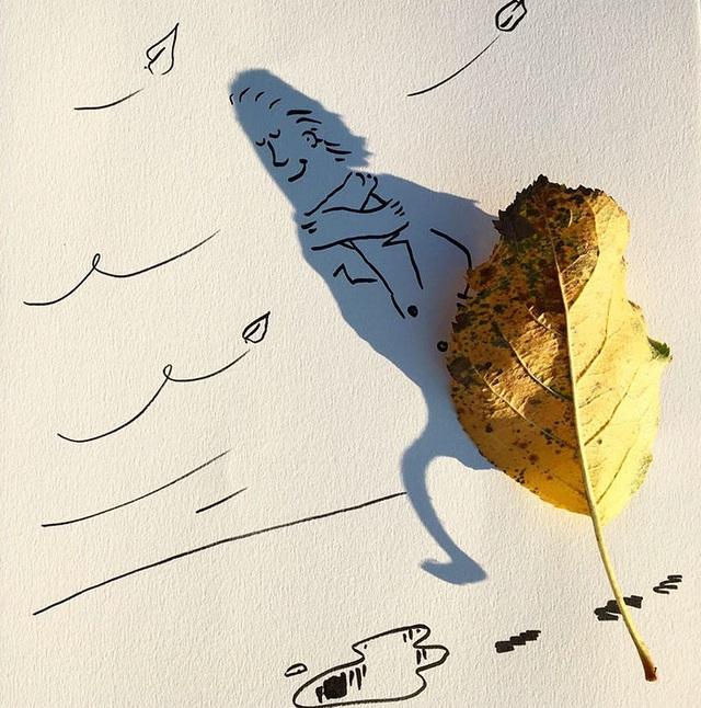 Hài hước những bức tranh vẽ từ… cái bóng - 11