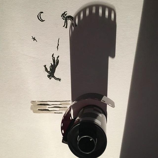 Hài hước những bức tranh vẽ từ… cái bóng - 7
