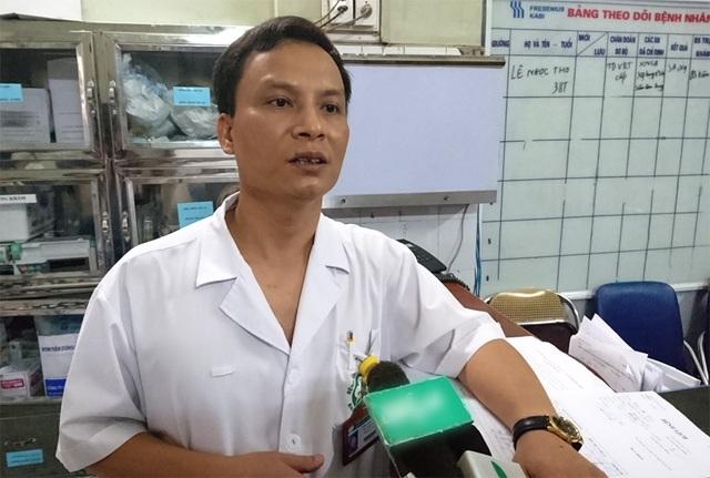 Bác sĩ Trần Mạnh Hùng cho biết, 10 bệnh nhân bị thương đều không nguy hiểm đến tính mạng.