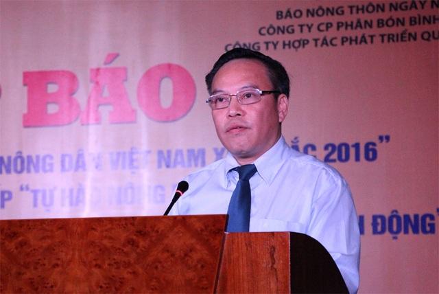Ông Lưu Quang Định phát biểu tại buổi Họp báo...
