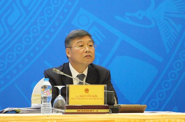 Ông Nguyễn Sơn, Phó Chánh án Tòa án Nhân dân Tối cao.