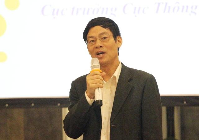 Ông Lê Văn Nghiêm trong một cuộc trao đổi về thông tin đối ngoại tại Hà Nội (Ảnh: Nguyễn Dương).