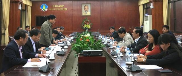 Quang cảnh cuộc họp bàn giải pháp khôi phục sản xuất vụ Xuân ở các tỉnh Nam Trung bộ và tỉnh Gia Lai ở Tây Nguyên diễn ra tại Bộ NN&PTNT, sáng ngày 19/12.