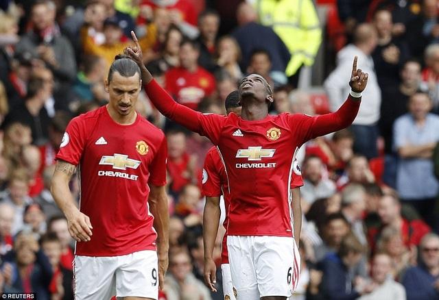 Paul Pogba có được bàn thắng đầu tiên cho MU