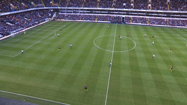 Lối chơi áp sát của Tottenham khiến Man City không thể triển khai bóng
