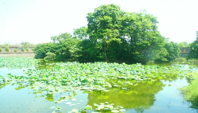 Một góc hồ Kim Thủy trong Hoàng thành
