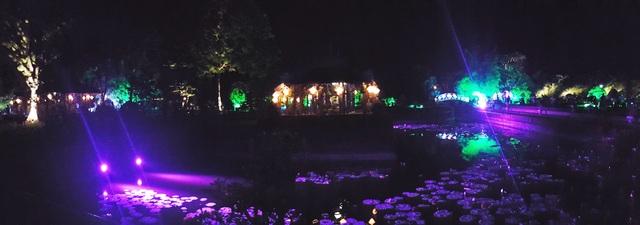 Vườn thượng uyển Cơ Hạ huyền ảo về đêm trong Festival Huế 2016