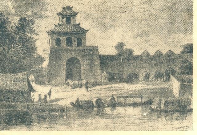 Cổng thành Phú Xuân thời Nguyễn sơ (Ảnh tư liệu của PVS sưu tầm)