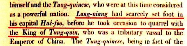 Sao y trích đoạn tại trang 251 Nguyễn Huệ chưa đặt chân vào Huế phủ trước khi xua quân ra miền Bắc trong sách A voyage to Cochinchina in the years 1792-179
