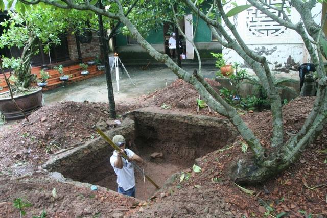 Hố thám sát khảo cổ chùa Thuyền Lâm đã được đào xong