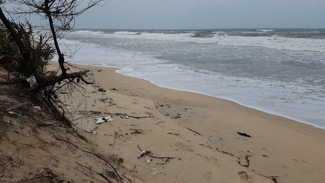 Biển Phú Thuận đã ăn vào đến bờ