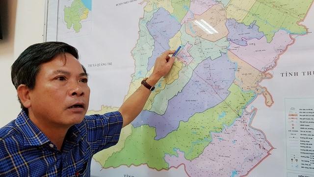 Chủ tịch UBND huyện Hải Lăng trao đổi vụ việc