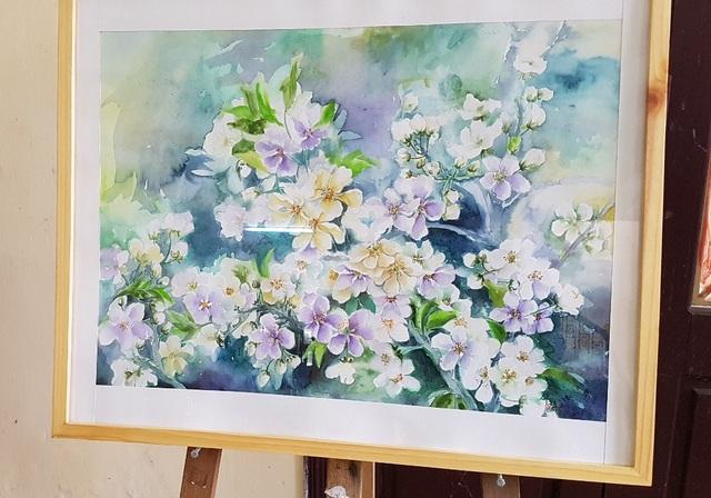 Hoa – Lê Thị Linh – Màu nước 50x70cm