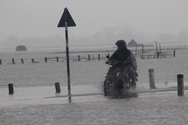 """Hơn 1.300 ngôi nhà ngập nước, người dân """"bơi"""" trong lũ - 7"""