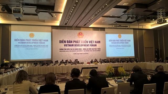 Diễn đàn VDF 2016 với chủ đề Chính phủ kiến tạo và hành động - động lực mới cho phát triển đang diễn ra tại Hà Nội.