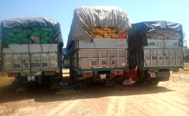 Xe chở hàng hóa quá tải đi qua cửa khẩu sang Trung Quốc sẽ bị nước này phạt nặng (ảnh: Xuân Hinh)