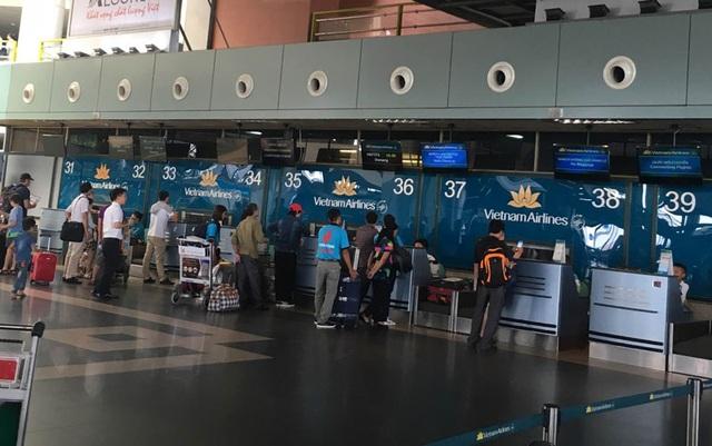 Khu vực khách Trần Dương Tùng và Đào Vịnh Thuấn 2 lần phải làm thủ tục bay do rớt chuyến, cũng là nơi nữ nhân viên Nguyễn Lê Quỳnh Anh quay video và chụp ảnh khi 2 khách đang to tiếng