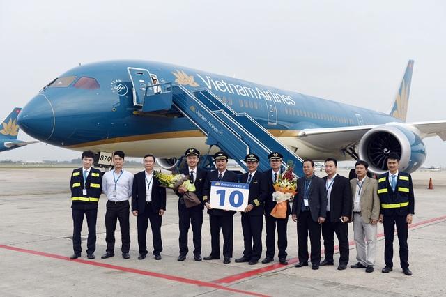 Chiếc Boeing 787-9 thứ 10 được tiếp nhận chỉ sau 16 tháng kể từ khi tiếp nhận chiếc đầu tiên