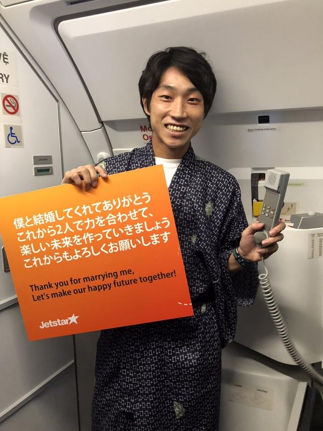 Lời tỏ tình ngọt ngào của cặp đôi Nhật Bản trên chuyến bay giá rẻ Việt Nam - 1