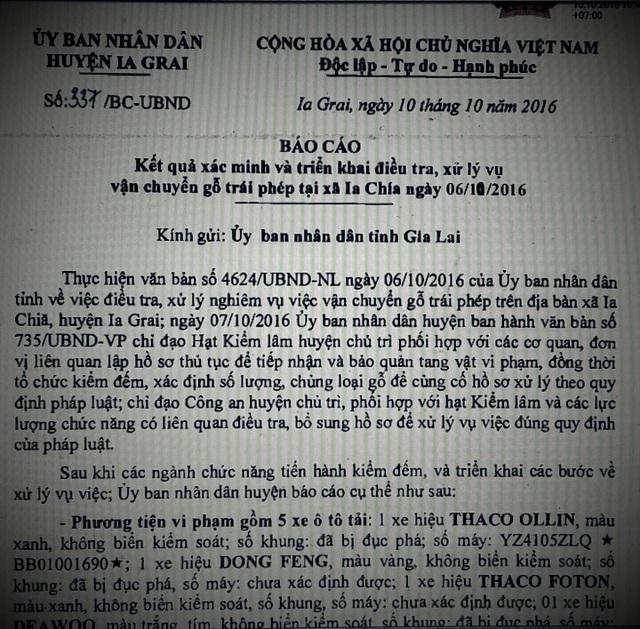 Báo cáo mới nhất của UBND huyện Ia Grai