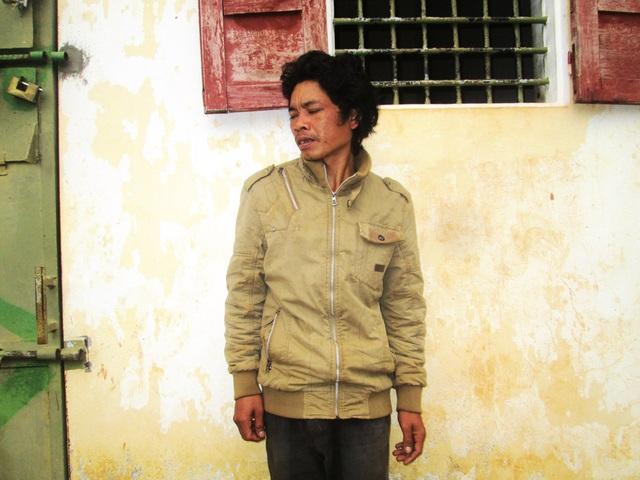 Đối tượng Hyuih tại cơ quan điều tra huyện Chư Păh