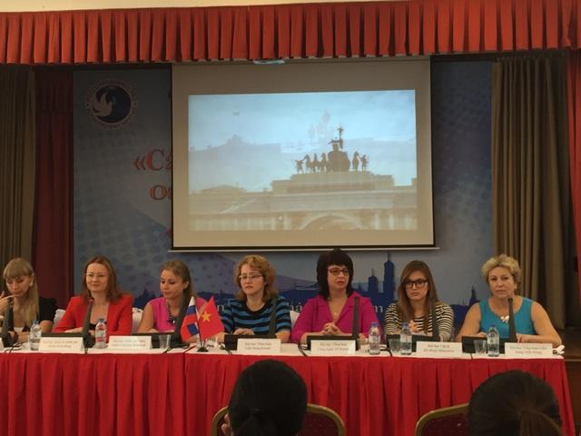 Đại diện các trường ĐH Nga đã tham gia giai đoạn 6 của dự án tại buổi họp báo