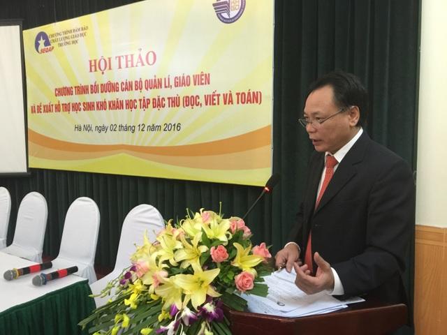 PGS.TS Phạm Minh Mục tại Hội thảo