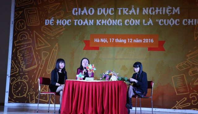 PGS Chu Cẩm Thơ và chị Phan Hồ Điệp tại hội thảo