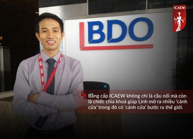 Trung Linh hiện đang học tập và làm việc tại hãng kiểm toán BDO Malaysia