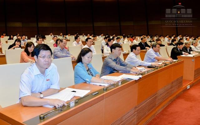 Đoàn ĐBQH tỉnh Bình Thuận bấm nút biểu quyết thông qua Nghị quyết về việc thực hiện thí điểm cấp thị thực điện tử cho người nước ngoài nhập cảnh Việt Nam