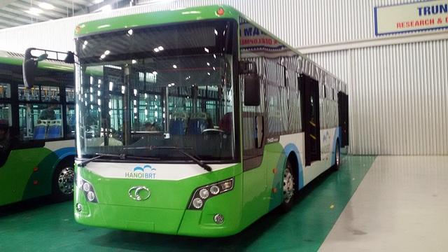Xe buýt nhanh có thể chở tới 90 hành khách