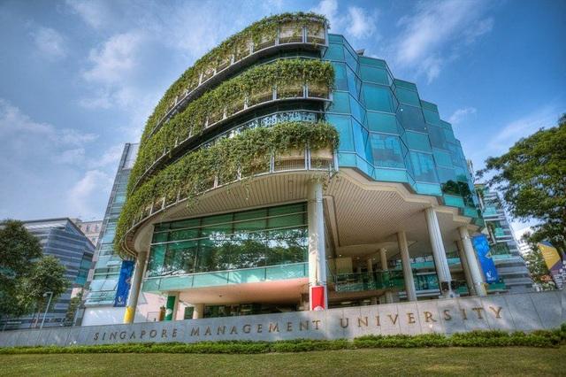 Trường ĐH Quản lý Singapore - nơi nam sinh người Việt Tran Gia Hung đang theo học với học bổng Asean chi trả toàn bộ chi phí ăn ở (Ảnh: glassdoor.co.uk)