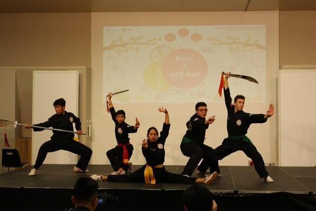 Tiết mục múa võ cổ truyền dân tộc.