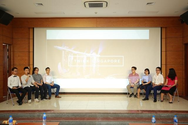 """Các diễn giả trong hội thảo """"Think Singapore""""."""