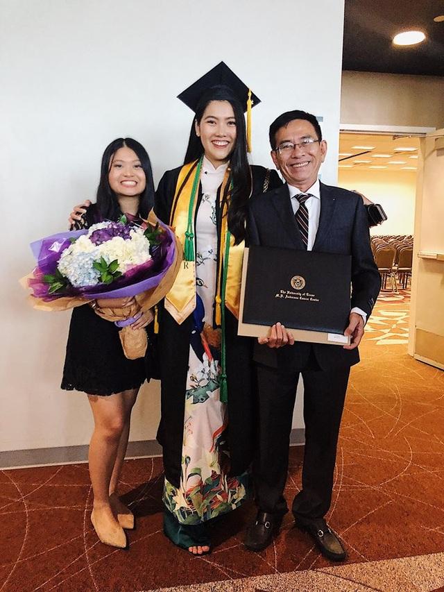 Em gái và bố luôn là niềm động lực lớn để Hoa khôi du học sinh Việt vững tin theo đuổi ước mơ ở đất khách.