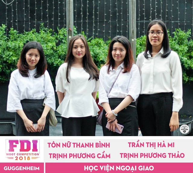 4 cô gái tài năng của Học viện Ngoại giao sẽ đại diện Việt Nam tham dự vòng thi quốc tế.