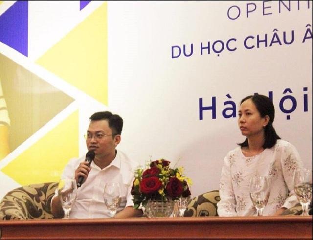 Chị Nguyễn Thái Thanh (cựu DHS Ireland) và cựu DHS Thụy Điển Trịnh Xuân Tuân trong buổi chia sẻ.