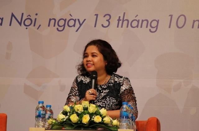 Bà Lê Tuệ Minh nhấn mạnh vai trò trang bị hành trang cho học sinh từ góc độ nhà quản lý giáo dục.