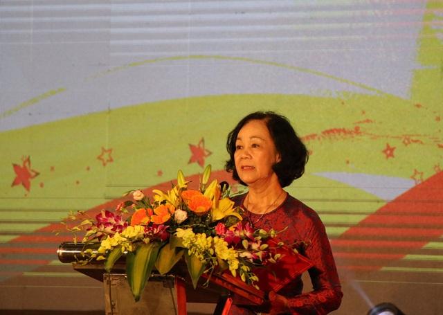 Bà Trương Thị Mai, Ủy viên Bộ Chính trị, Bí thư Trung ương Đảng, Trưởng ban Dân vận Trung ương phát biểu.