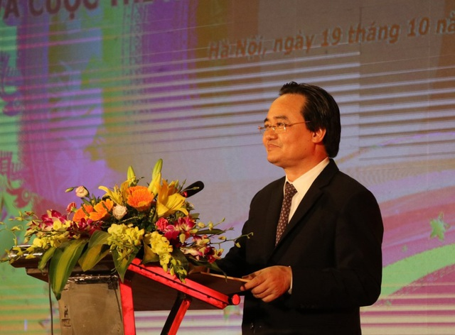 Bộ trưởng Phùng Xuân Nhạ phát biểu tại buổi lễ.