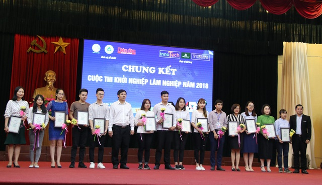 Cuộc thi tuyển chọn dự án khởi nghiệp Lâm nghiệp năm 2018 đã thành công tốt đẹp, kết quả: 1 giải Nhất; 2 giải Nhì; 2 giải Ba; 3 giải Khuyến khích.