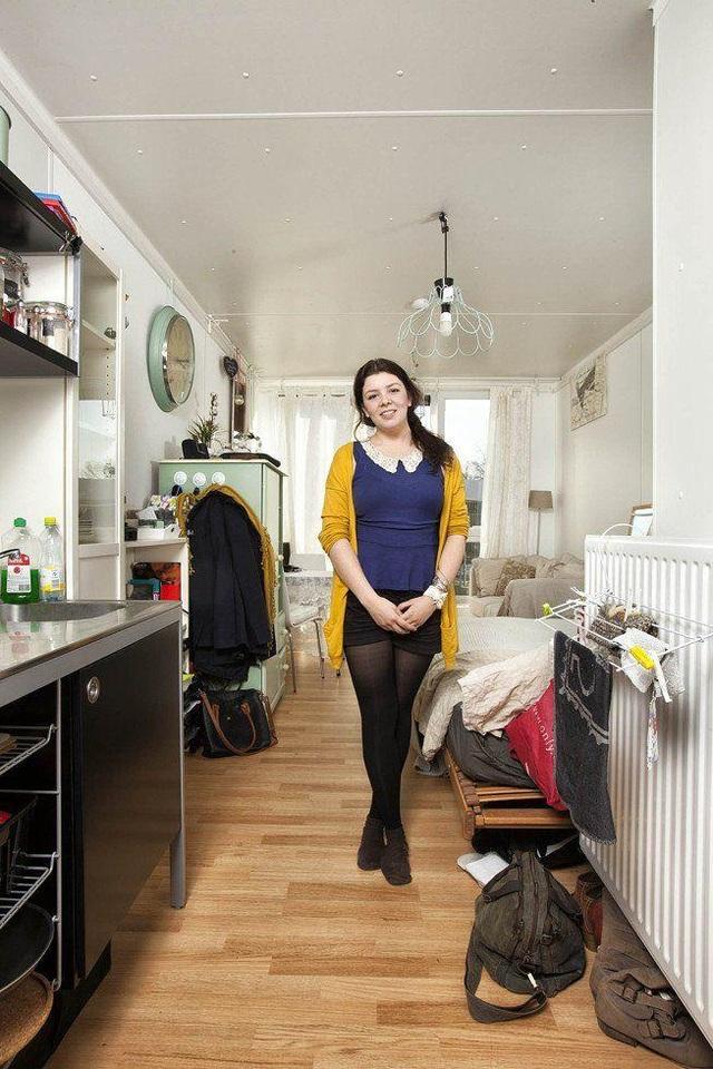 Phòng sinh hoạt của cô bạn Jessie (Amsterdam, Hà Lan) theo học chuyên ngành Khoa học Truyền thông. (Ảnh: Henny Boogert)