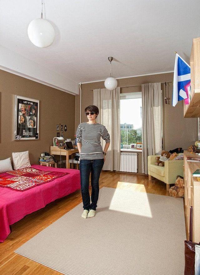 Phòng sinh hoạt của một nữ sinh tại Nga. (Ảnh: Henny Boogert)