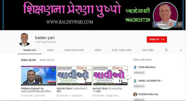 Kênh Youtube của thầy giáo Baldevpari.
