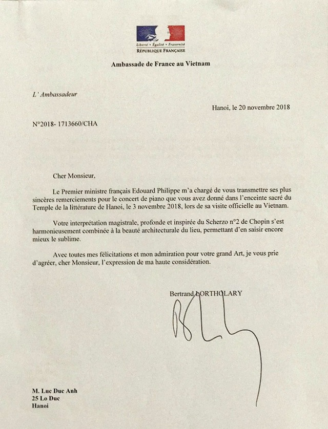 Nghệ sĩ trẻ Việt bất ngờ được Thủ tướng Pháp gửi thư cảm ơn - 1