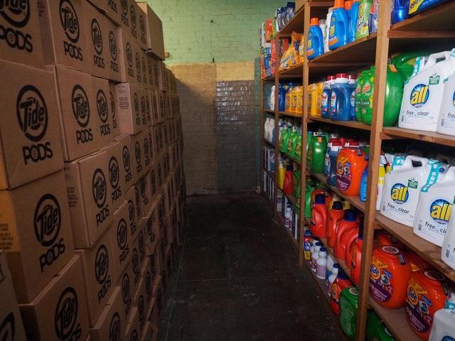 Phòng chứa nước giặt do các nhà tài trợ cung cấp cho trường (Ảnh: Nj.com)