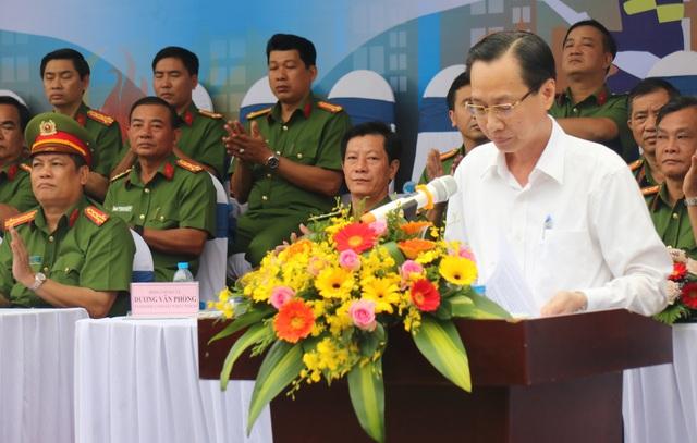 Phó Chủ tịch UBND TPHCM Lê Thanh Liêm phát biểu tại lễ khai mạc Hội thao.
