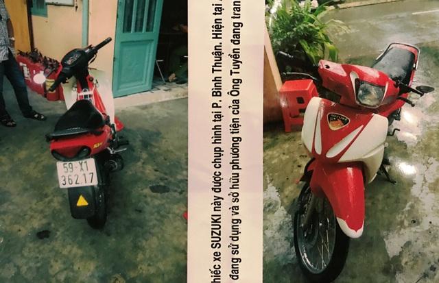 Chiếc xe máy Suzuki Sport của anh Tuyền bị mất tích vừa được khổ chủ tìm thấy. Tuy nhiên tài sản này đang là sở hữu hợp pháp của người khác.
