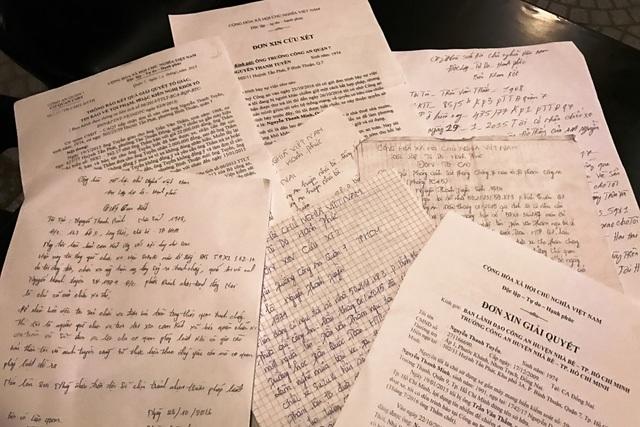 Suốt gần 2 năm qua, anh Tuyền đã đi và gởi đơn khắp nơi từ Công an đến Toà án, Viện kiểm sát nhân dân…để mong được giải quyết vụ việc bị chiếm đoạt tài sản của mình.